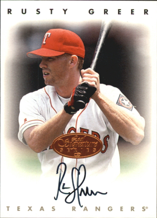 1996 Leaf Signature Autographs #85 Rusty Greer