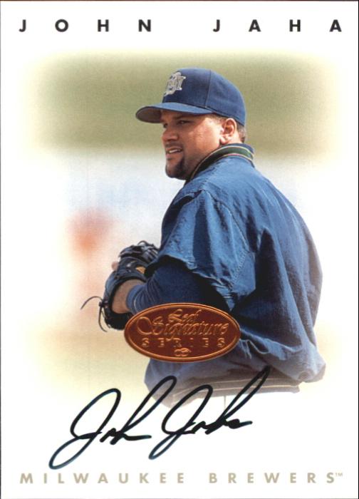 1996 Leaf Signature Autographs #116 John Jaha