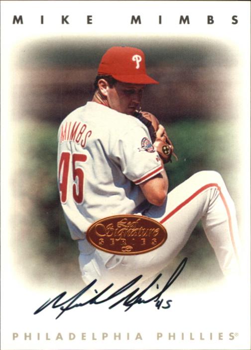 1996 Leaf Signature Autographs #157 Mike Mimbs