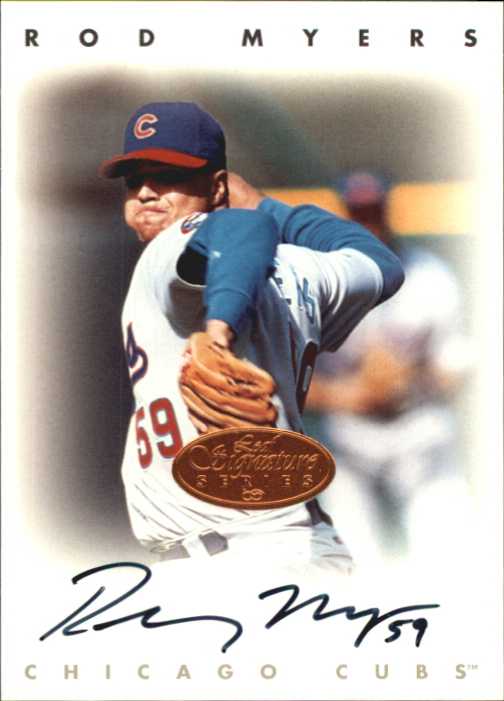 1996 Leaf Signature Autographs #165 Rodney Myers
