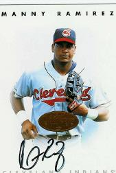 1996 Leaf Signature Autographs #189 Manny Ramirez SP