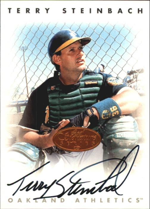 1996 Leaf Signature Autographs #215 Terry Steinbach