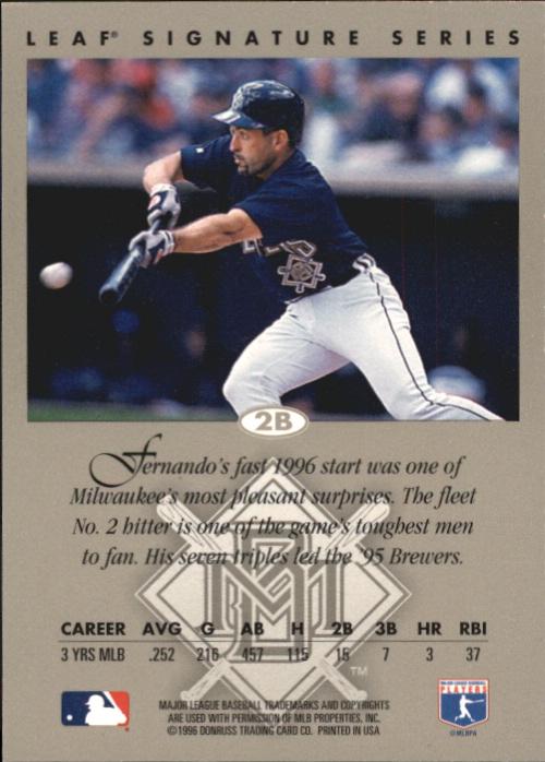 1996 Leaf Signature Autographs #231 Fernando Vina back image