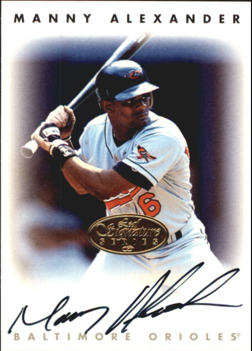 1996 Leaf Signature Autographs Gold #4 Manny Alexander