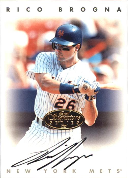 1996 Leaf Signature Autographs Gold #35 Rico Brogna
