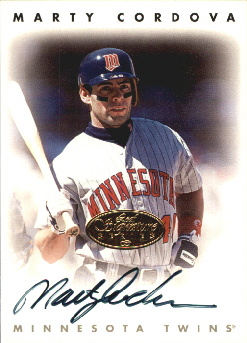 1996 Leaf Signature Autographs Gold #50 Marty Cordova