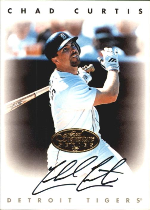 1996 Leaf Signature Autographs Gold #53 Chad Curtis
