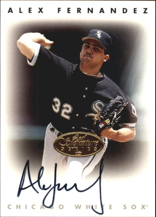 1996 Leaf Signature Autographs Gold #67 Alex Fernandez