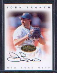 1996 Leaf Signature Autographs Gold #71 John Franco