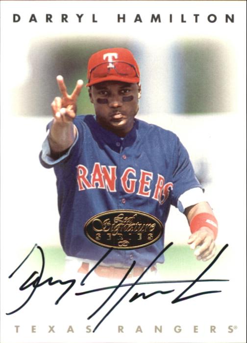 1996 Leaf Signature Autographs Gold #89 Darryl Hamilton