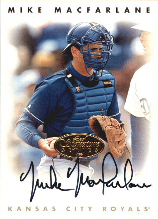 1996 Leaf Signature Autographs Gold #141 Mike Macfarlane