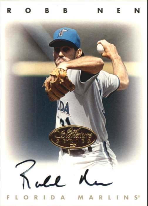 1996 Leaf Signature Autographs Gold #167 Robb Nen