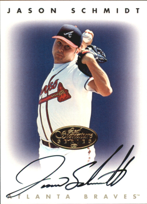 1996 Leaf Signature Autographs Gold #205 Jason Schmidt