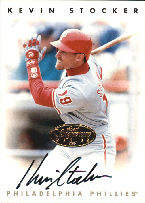 1996 Leaf Signature Autographs Gold #215 Kevin Stocker