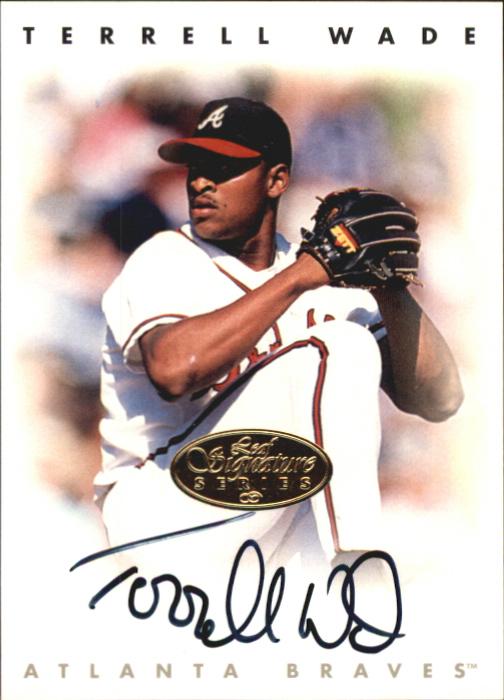 1996 Leaf Signature Autographs Gold #235 Terrell Wade