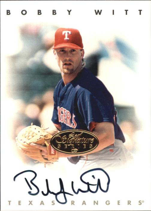 1996 Leaf Signature Autographs Gold #248 Bobby Witt