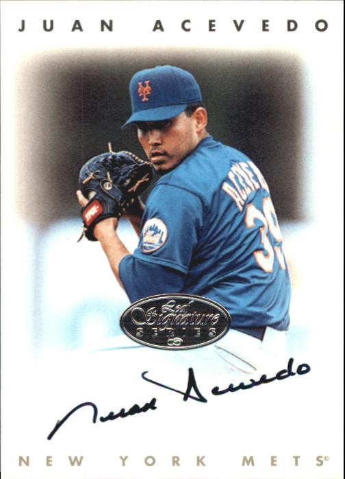 1996 Leaf Signature Autographs Silver #2 Juan Acevedo