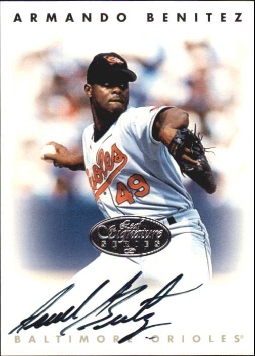 1996 Leaf Signature Autographs Silver #22 Armando Benitez