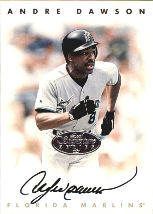 1996 Leaf Signature Autographs Silver #56 Andre Dawson