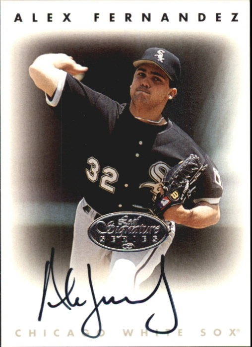 1996 Leaf Signature Autographs Silver #67 Alex Fernandez