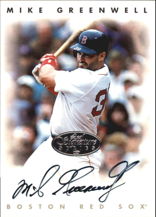 1996 Leaf Signature Autographs Silver #84 Mike Greenwell