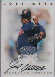 1996 Leaf Signature Autographs Silver #154 Jose Mesa