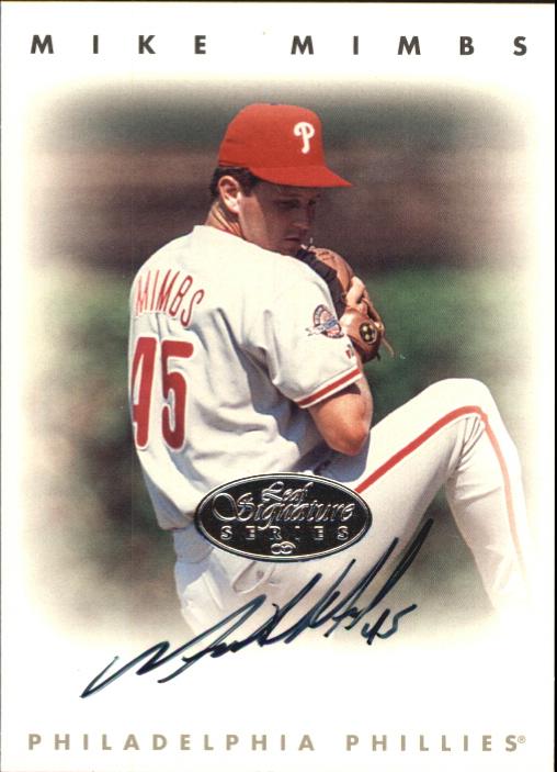 1996 Leaf Signature Autographs Silver #157 Mike Mimbs