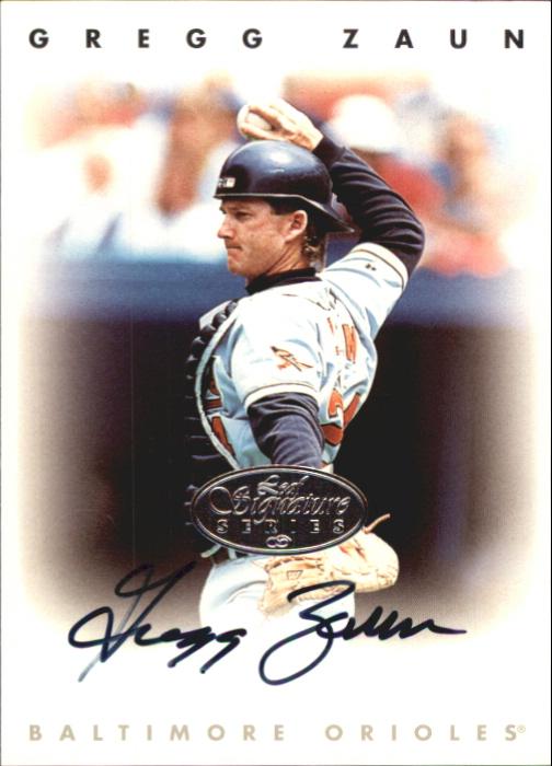 1996 Leaf Signature Autographs Silver #252 Greg Zaun