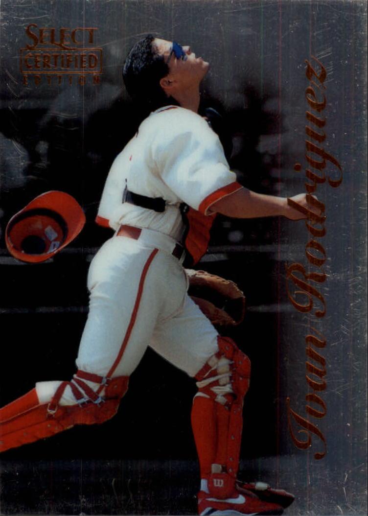 1996 Select Certified #35 Ivan Rodriguez