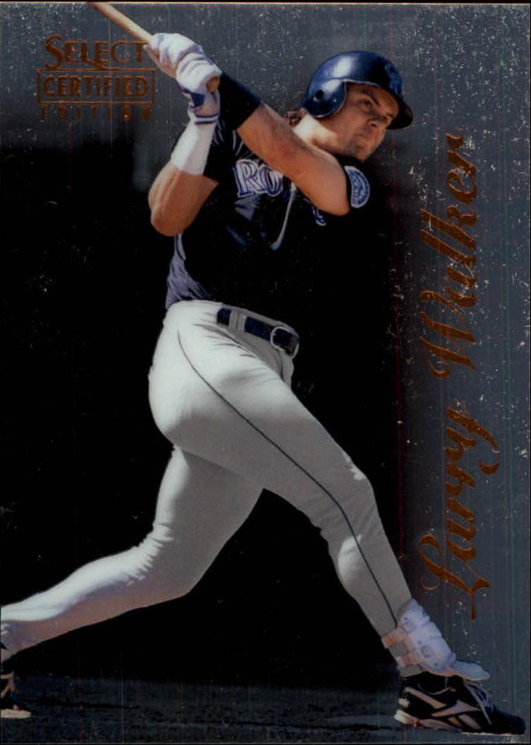 1996 Select Certified #85 Larry Walker
