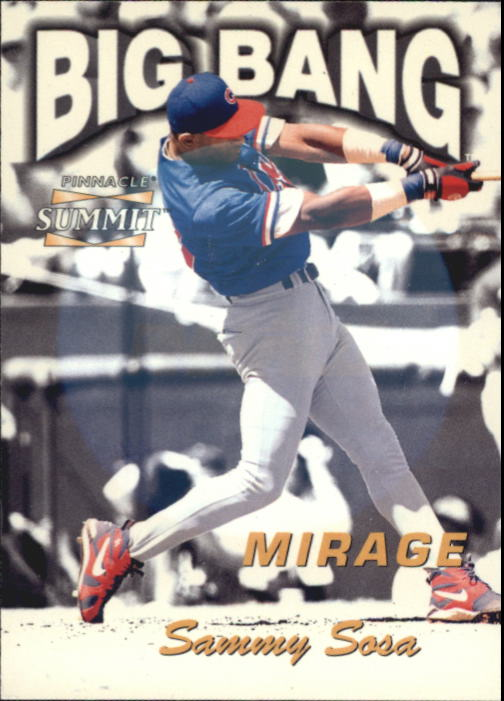 1996 Summit Big Bang Mirage #13 Sammy Sosa