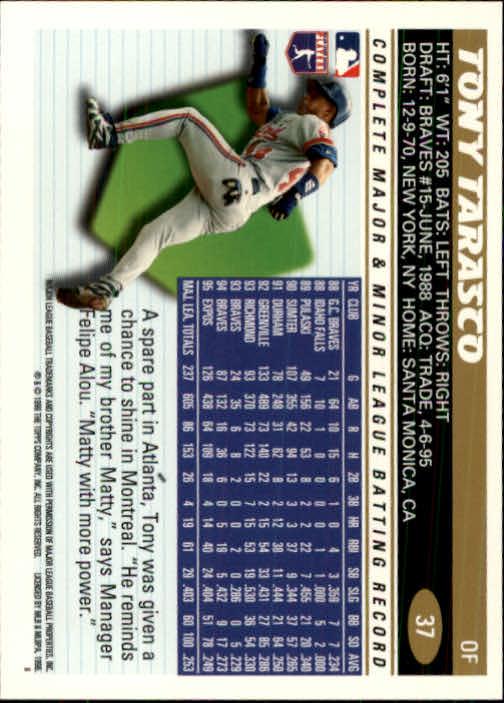 1996 Topps #37 Tony Tarasco back image