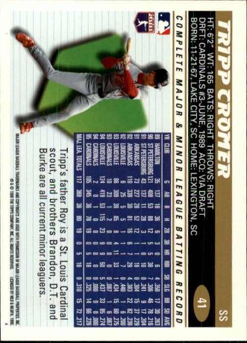 1996 Topps #41 Tripp Cromer back image