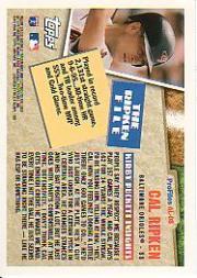 1996 Topps Profiles #AL8 Cal Ripken back image