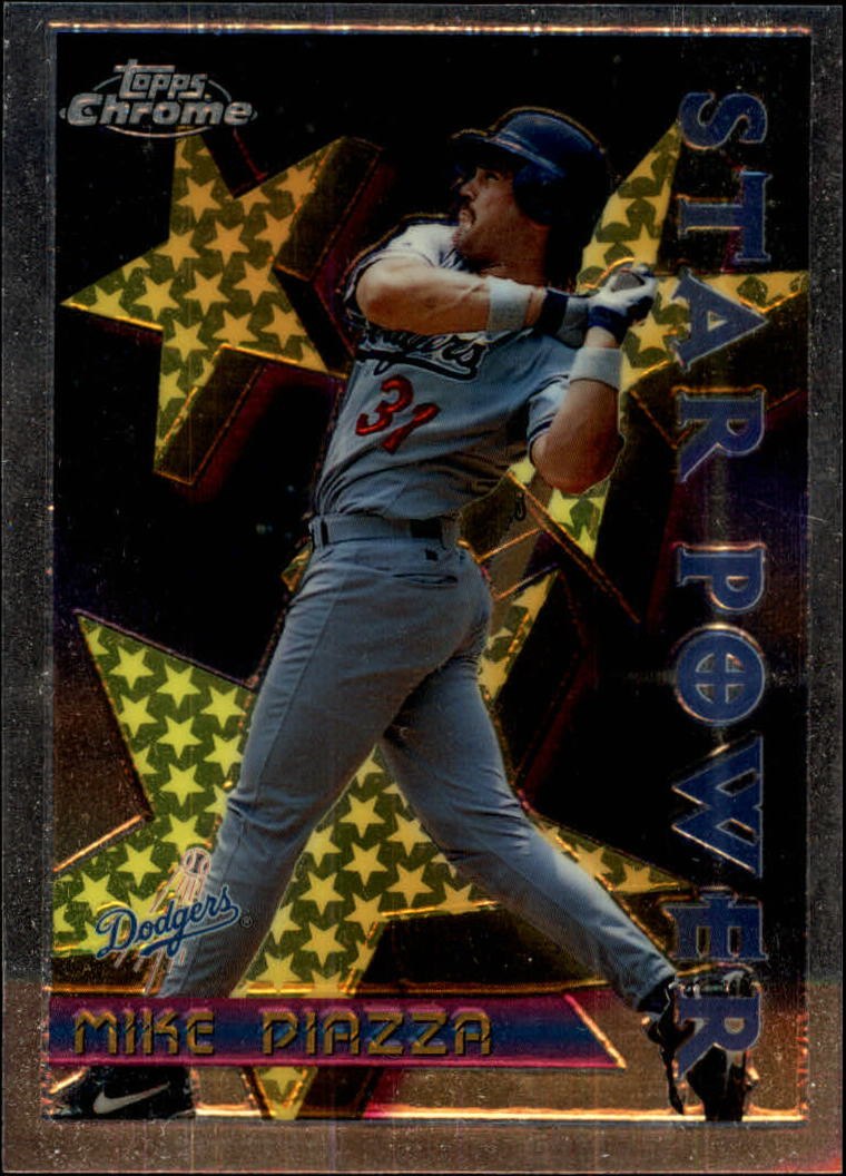 1996 Topps Chrome #2 Mike Piazza STP