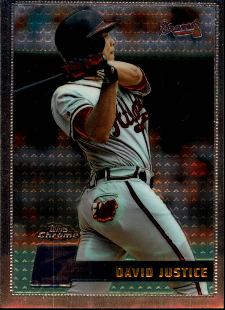 1996 Topps Chrome #22 David Justice