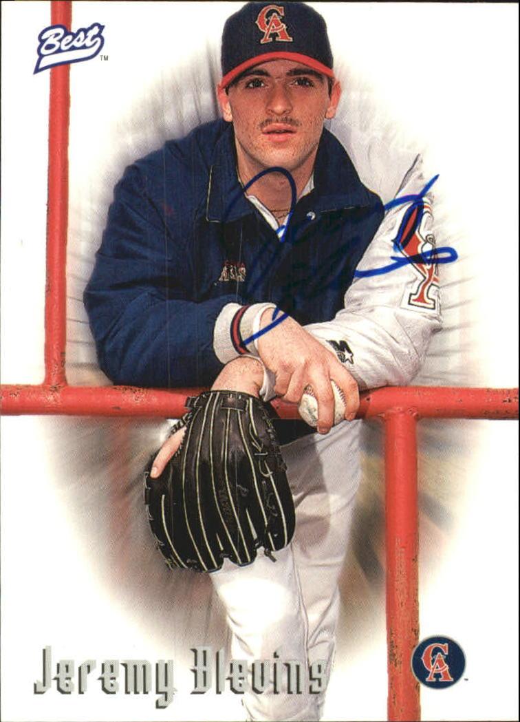 1997 Best Autographs Autograph Series #5 Jeremy Blevins