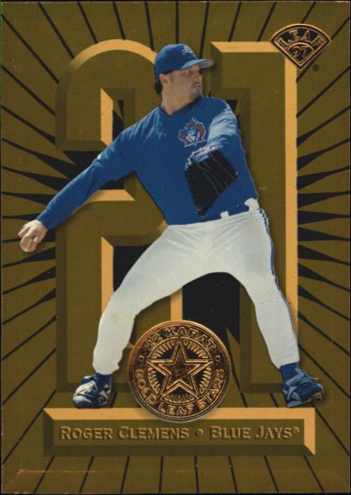1997 Leaf Gold Stars #13 Roger Clemens