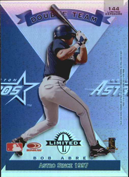 1997 Donruss Limited Exposure #144 C.Biggio/B.Abreu D back image