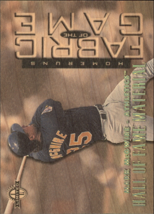 1997 Donruss Limited Fabric of the Game #27 Mark McGwire HF
