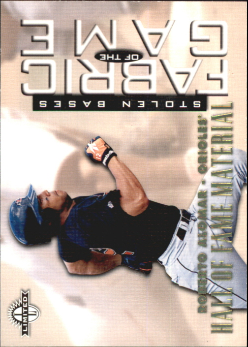 1997 Donruss Limited Fabric of the Game #64 Roberto Alomar HF