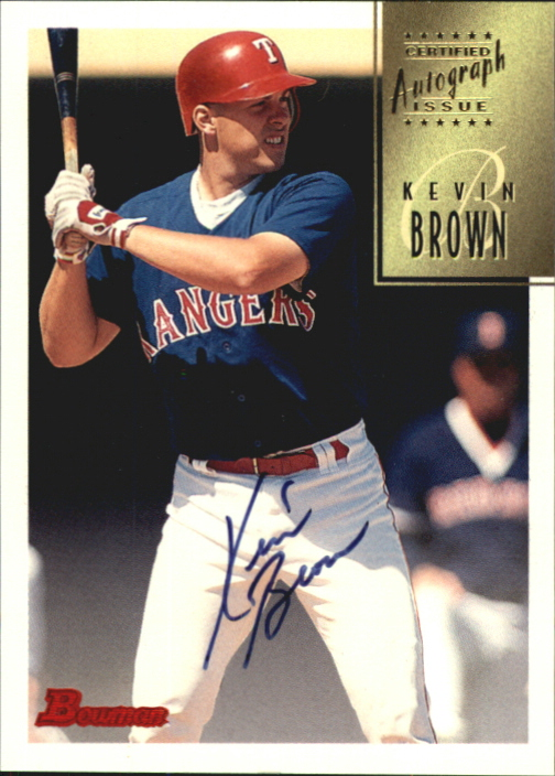 1997 Bowman Certified Black Ink Autographs #CA8 Kevin Brown