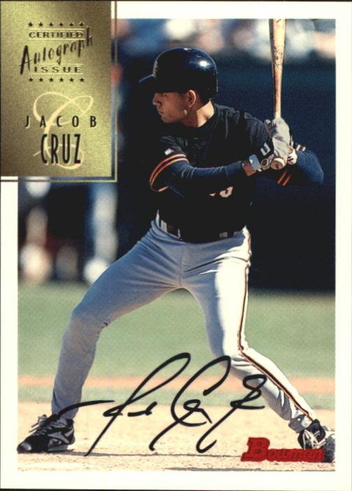 1997 Bowman Certified Black Ink Autographs #CA17 Jacob Cruz