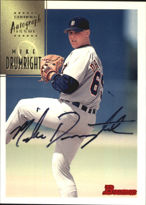 1997 Bowman Certified Black Ink Autographs #CA21 Mike Drumright