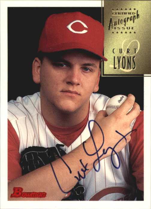 1997 Bowman Certified Black Ink Autographs #CA50 Curt Lyons