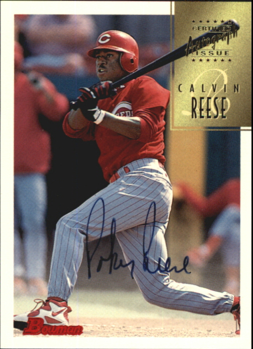 1997 Bowman Certified Black Ink Autographs #CA64 Pokey Reese