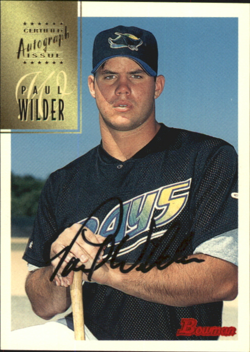 1997 Bowman Certified Black Ink Autographs #CA84 Paul Wilder