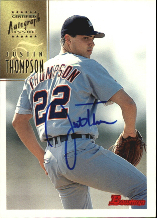 1997 Bowman Certified Blue Ink Autographs #CA79 Justin Thompson