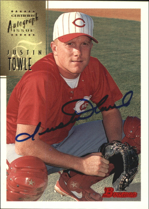 1997 Bowman Certified Blue Ink Autographs #CA80 Justin Towle