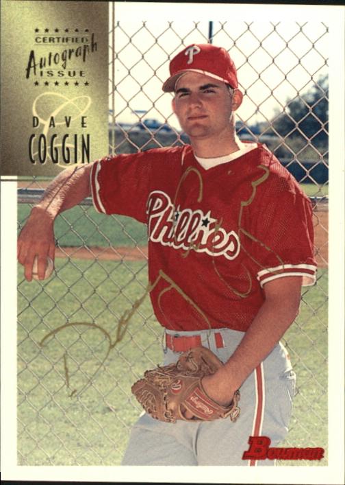 1997 Bowman Certified Gold Ink Autographs #CA14 Dave Coggin